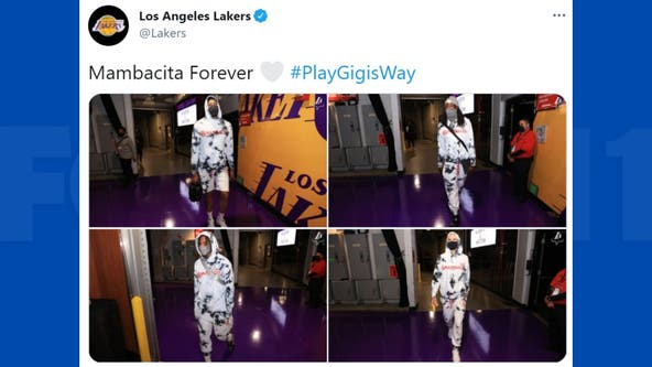 NBA stars pay tribute to Gianna Bryant by sporting 'Mambacita' gear