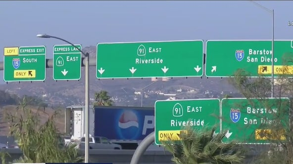 Car windows shot out on 91 Freeway in Corona, Riverside
