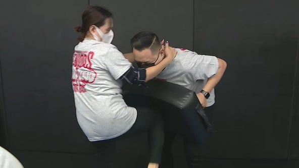 Former MMA fighter holds self-defense class for AAPI community in light of surge in hate crimes