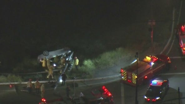 Two injured in fiery crash following police pursuit