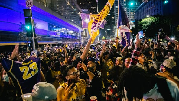 Lakers fan sues city alleging he lost an eye during championship celebration