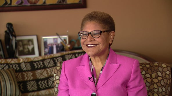 LA mayoral candidate Karen Bass reiterates pledge to make solving homelessness top priority