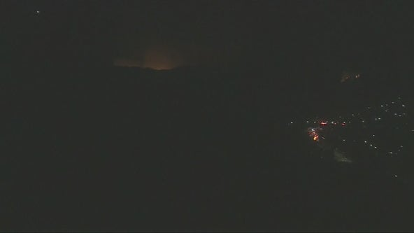 Brush fire burns 10 acres in Pacific Palisades