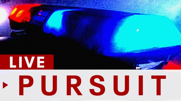 Police in pursuit of a reported stolen vehicle in the Baldwin Park area