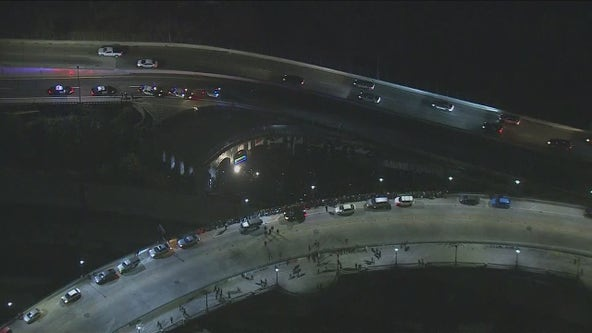 LAPD break up huge underground party held near 110 and 5 freeways