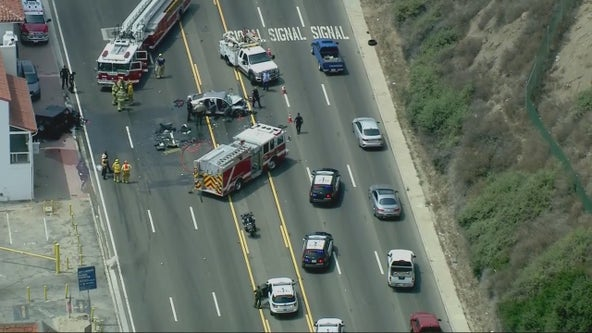 PCH closed in both directions in Santa Monica due to multi-car crash