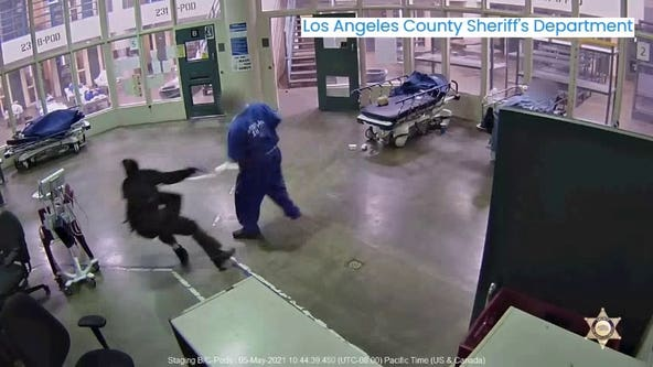 Inmate seen sucker-punching a Los Angeles County jail worker charged with hate crime