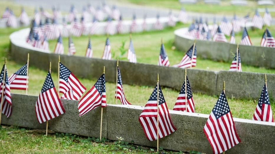Memorial Day flags