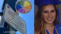 Rainbow Halo ceremony honors woman killed by teen Lamborghini driver in West LA