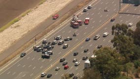 Suspect in custody after standoff on 101 freeway in Encino