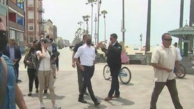Homeless crisis: Mayor Eric Garcetti tours Venice as residents call for meaningful change