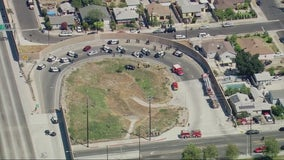 Pursuit ends in police shooting on the off-ramp of the 5 Freeway in Pacoima