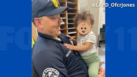 LAPD rescues child left inside hot car in North Hollywood
