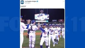 Buehler deals, surging Dodgers sweep Giants