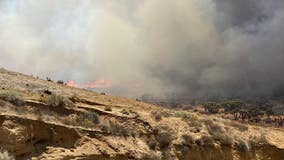 Crews contain brush fire in Hesperia