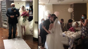 Mother with stage 4 cancer gets final wish of seeing daughter's wedding in hospital ceremony