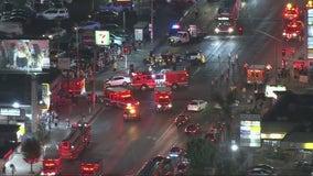 8 people hurt in 3-car wreck in Van Nuys, firefighters say