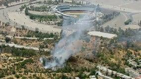 Brush fire breaks out near Dodger Stadium