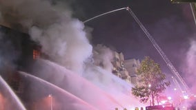 'Small explosions' heard from commercial building fire in downtown LA