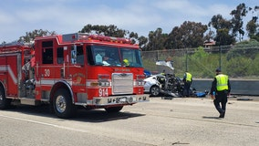 2 SoCal police officers struck, killed by wrong-way driver