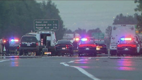Wrong-way pursuit through IE ends in deadly shoot-out on 10 Freeway
