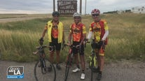 Firefighters biking across the country