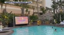 Poolside cinema at Fairmont Hotel in Santa Monica