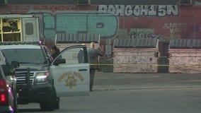 Pursuit suspect struck by police gunfire in downtown Los Angeles