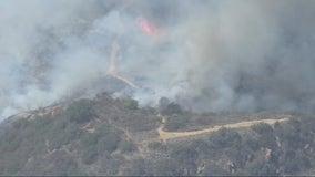 Flores Fire: Crews battling blaze in Topanga