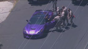 Corvette police chase: Satellite security system credited with stopping Van Nuys pursuit