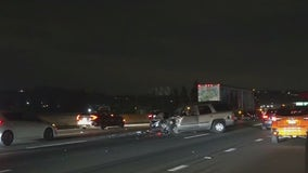 Man shot in leg after collision on the 60 Freeway in Pomona