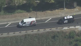 Suspected stolen van leading CHP on chase across Los Angeles