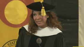 FOX 11's Christine Devine receives honorary doctorate from Cal State LA