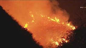 Tuna Fire: Crews contain brush fire burning in Malibu area off the PCH near Tuna Canyon Road
