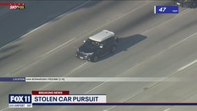 Suspected stolen Kia leading police on chase across San Gabriel Valley