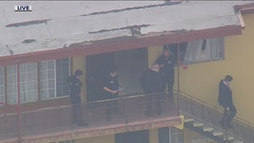 LAPD officers fatally shoot suspect holding elderly woman at knifepoint inside West LA apartment