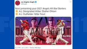 Shohei Ohtani, Mike Trout named AL starters in 2021 MLB All-Star Game