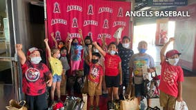 Los Angeles Angels host back-to-school event for kids