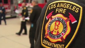 Firefighters take down blaze at Sylmar building, LAPD checking garage for possible marijuana grow op