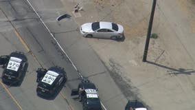 Suspect arrested after hours long pursuit ends in Palmdale area