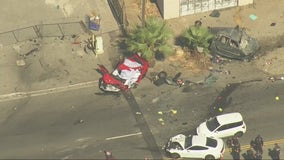 Two killed during multi-vehicle collision in Fontana
