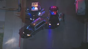 Slow police chase ends in crash, lengthy standoff in Montebello