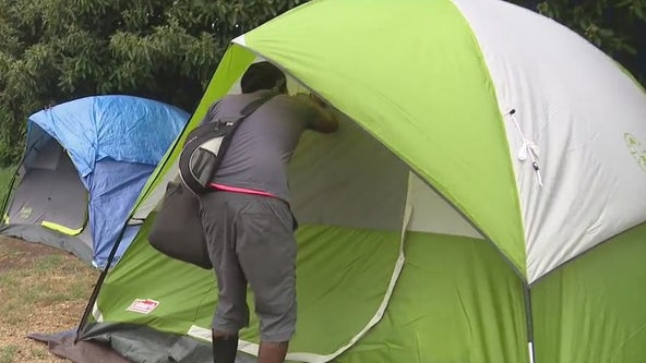 Homeless outreach in Westchester Park