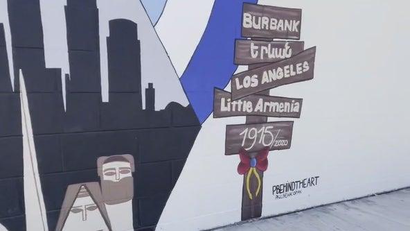 Community unveils Burbank's first Armenian-themed mural