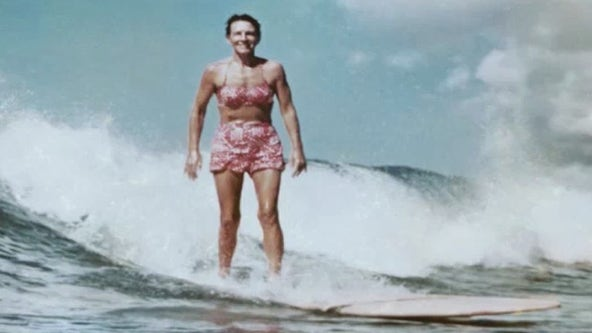 One woman's historic barrier breaking in the surfing world