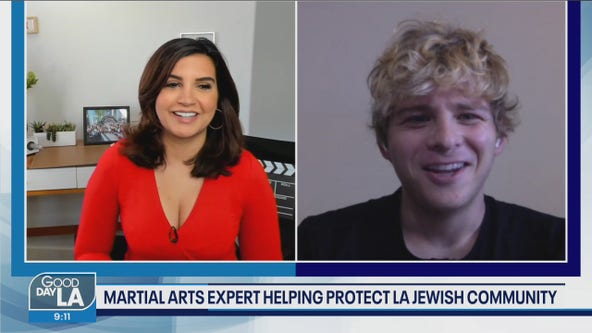 Jonathan Lipnicki and the Shabbat Angels protecting worshipers in the Fairfax district
