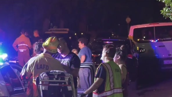 Driver left young child behind after crashing SUV in Van Nuys: LAPD