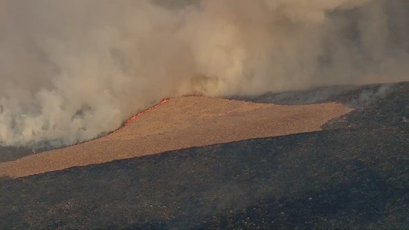 Firefighters battling two brush fires that sparked near Gorman area