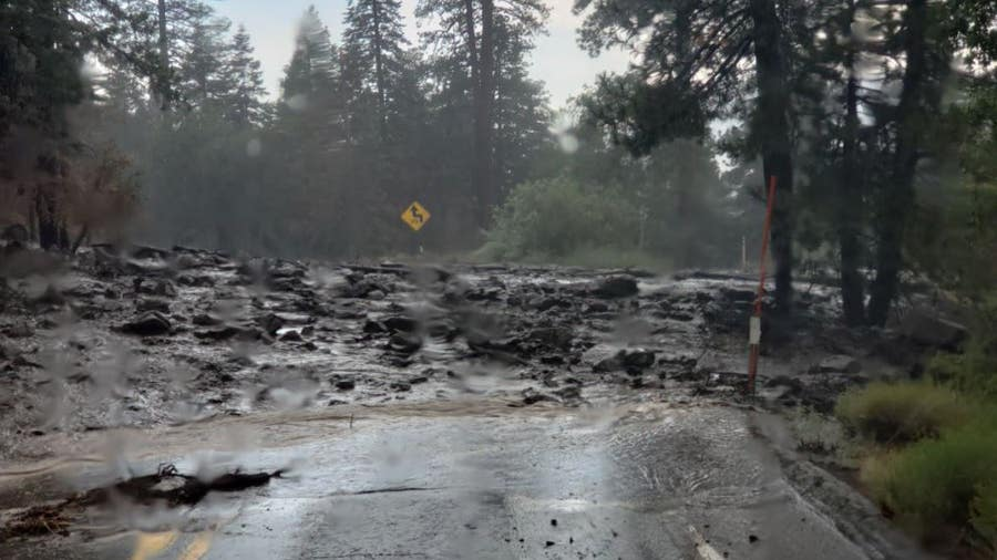 Mudflow, rockfall causes closure of highway 38 near Big Bear
