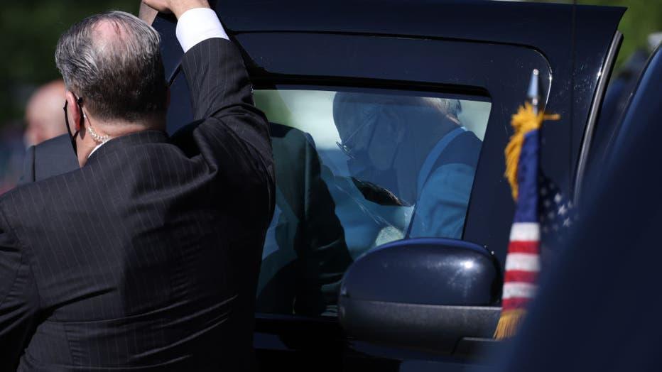 President Biden Departs White House For Trip To Michigan
